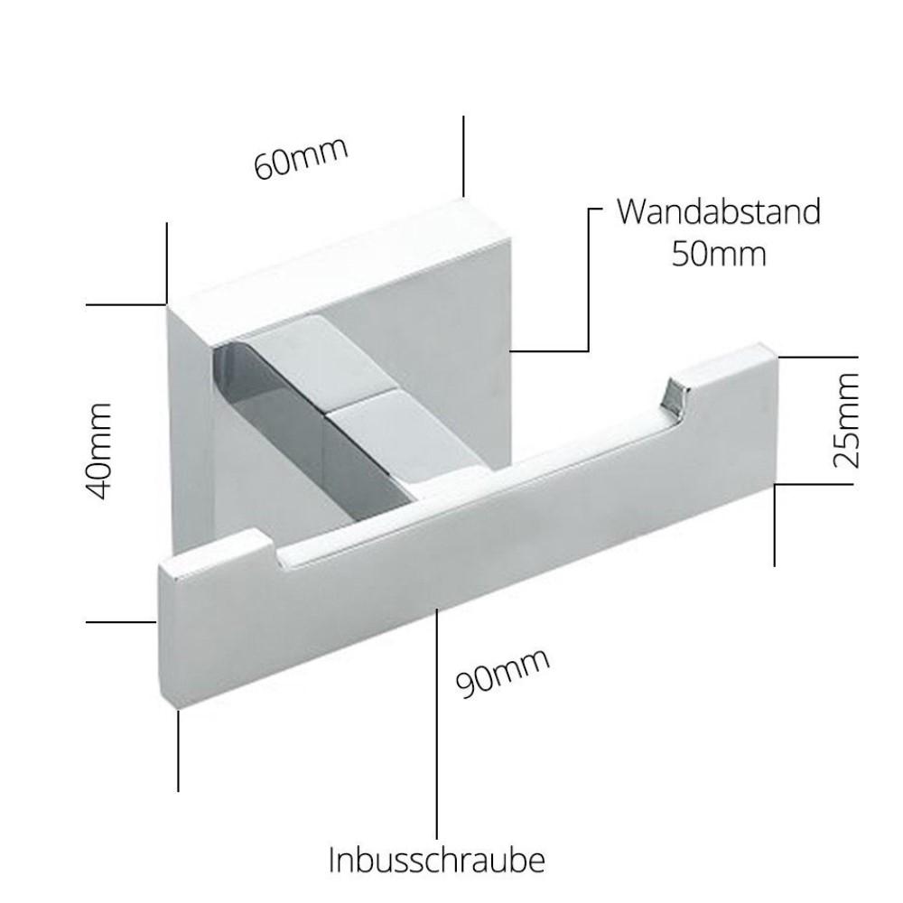 Badaccessoires badzubeh r zahnputzbecher wc b rste toilettenpapierhalter haken ebay - Wc burste wandmontage ...
