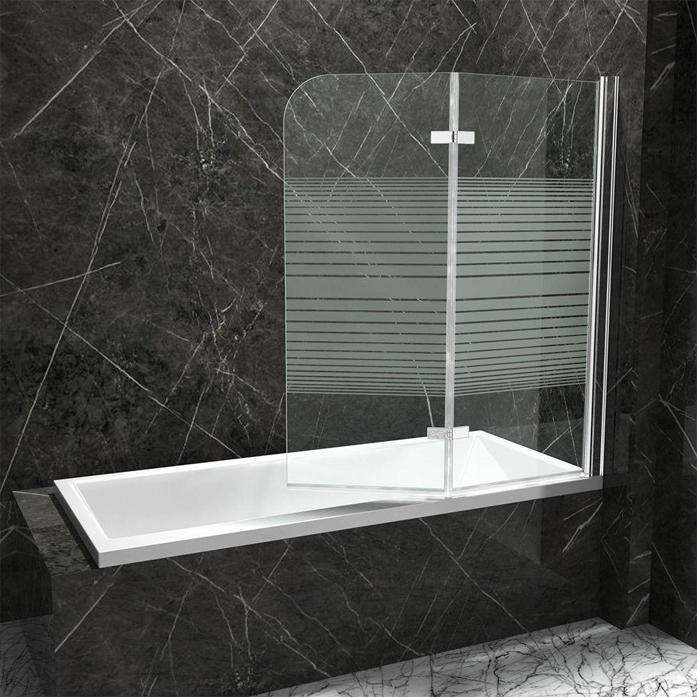 Bwf badewanne faltwand badewannenaufsatz dusche duschabtrennung glaswand esg neu ebay - Faltwand dusche ...
