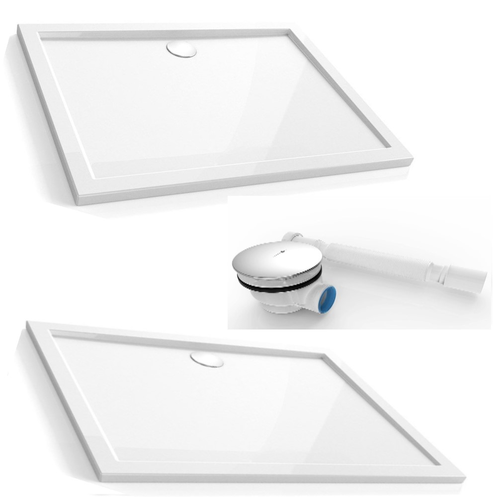 duschtasse duschwanne ablauf acrylwanne brausewanne dusche bad hochglanz wei ebay. Black Bedroom Furniture Sets. Home Design Ideas
